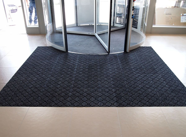 Waterhog Geometric Floor Mat Tiles Are Recessed Waterhog